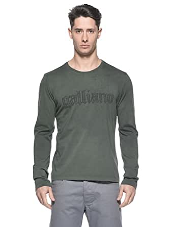 Galliano Herren T-Shirt galliano grün Langarm Gr. L