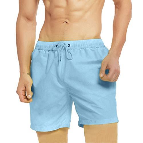 LSAltd Summer Men Temperaturempfindliche Strandhose mit Farbwechsel (Softball-tasche Rosa)