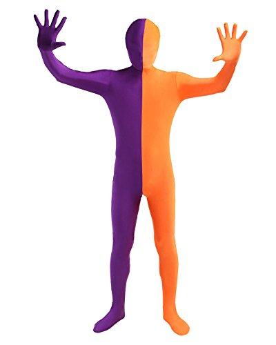 (Unisex Ganzkörperanzug Erwachsene Kostüme Violett Orange XL)