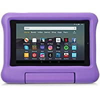 Kid-Proof Case for Fire 7 Tablet   Compatible with 9th-Generation Tablet (2019 release), Purple