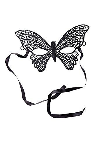 Vampir-maske Für Erwachsene (DRESS ME UP - Halloween Karneval Maske Halbmaske Augenmaske Schmetterling Venedig Vampir Elfe Gothic Schwarz Spitze AE019A)