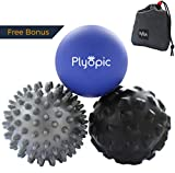 Plyopic Massageball Set – Inklusive Faszienball mit Noppen, Igelball und Massagebälle | Myofasziale Selbstmassage, Triggerpunkt und Fersenschmerzen (Fasziitis plantaris) Therapie: Rücken Hand Fuß usw