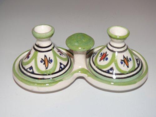 Kleine marokkanische Tajine für Gewürze Salz Pfeffer Tischdekoration Küche 32