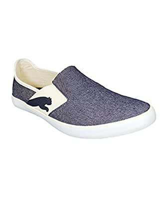 Puma Men's Lazy Slip On Ind Blueprint-Whisper White Mesh Loafers and Mocassins - 11 UK /India(46EU)