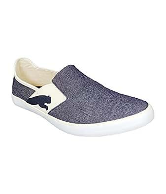 Puma Men's Lazy Slip On Ind Blueprint-Whisper White Mesh Loafers and Mocassins - 10UK/India (44.5EU)