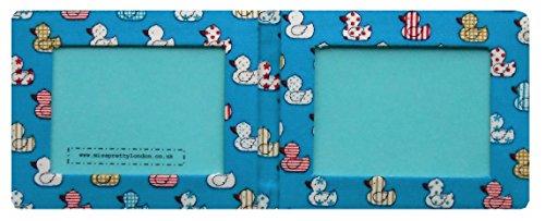 Quacky Duck, blau, Leder,, Baumwolle, Natur-Finish