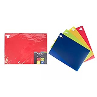 ALANNAHS ACCESSORIES Pack Of 4 Flexible Chopping Mats 35cm x 25cm Flexi Cutting - 1 Of Each Colour