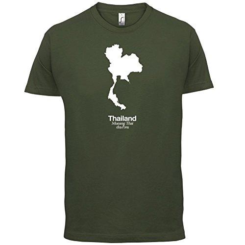 Thailand / Königreich Thailand Silhouette - Herren T-Shirt - 13 Farben Olivgrün
