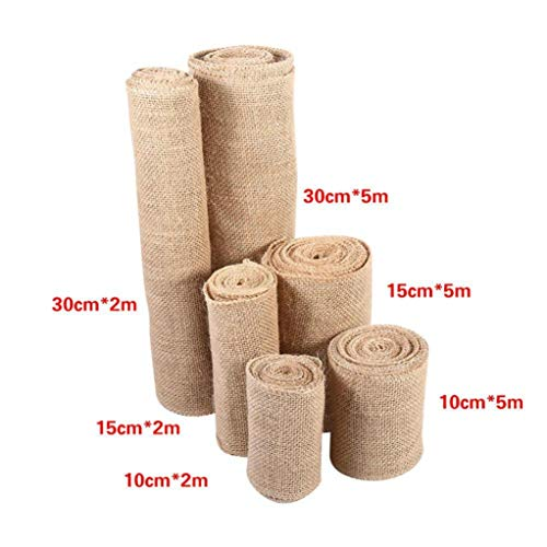 GOWINEU Vintage Sackleinen Hochzeit Mittelstücke Dekoration Sisal Trim DIY Handwerk natürliche Jute Roll rustikale Festliche Party Supplies Table Decor
