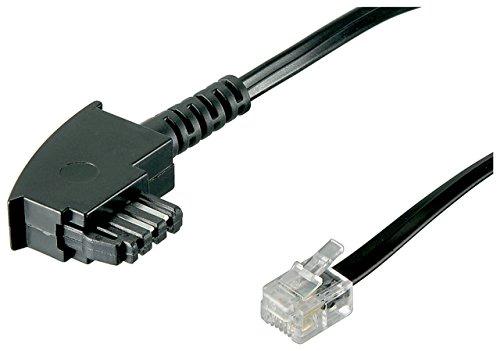 Goobay TAE Anschluß-Kabel (TAE-F Stecker auf Westernstecker) 3m