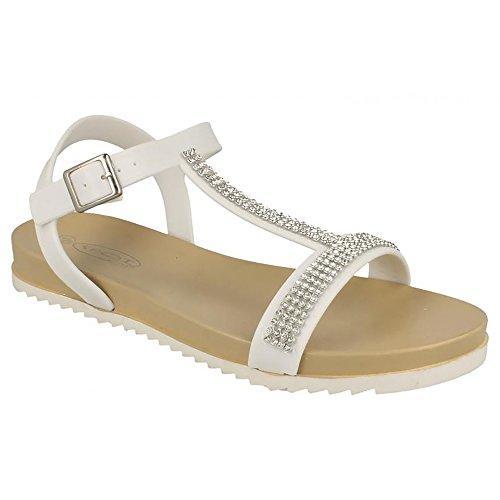Spot On - Sandales à diamants - Femme Blanc