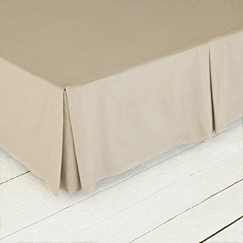 Great Knoten, Easy Care Perkal Serie 180Fadenzahl Base Faltenvolant, Blossom Brown, Super King 182 x 200+40cm