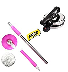 Escon Combo of Pink Mop Rod With free Roti Maker (Product Colour May Vary)