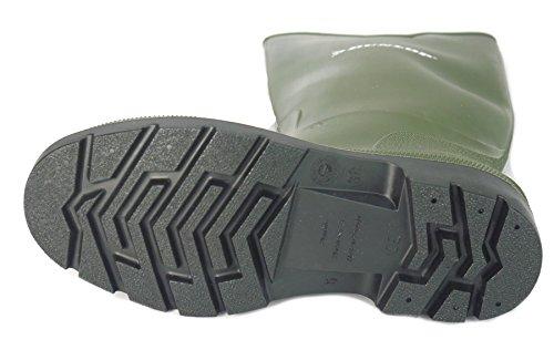 Dunlop Bottes en caoutchouc bottes en caoutchouc Taille Mesdames garçons en caoutchouc imperméable Noir/vert green