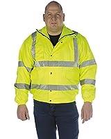 Grafters HI-VIZ Fluorescent Waterproof Bomber Jacket Yellow