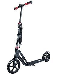 HUDORA Big Wheel Style 230 - scooters (Adults, Asphalt, Negro, Rojo, Poliuretano, Aluminio)