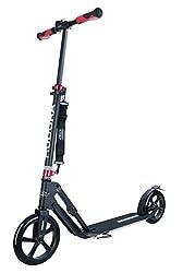 "HUDORA 14235 Big Wheel Style Alu 9"" BigWheel 230-Tret-Roller klappbar City-Scooter, schwarz, One Size"