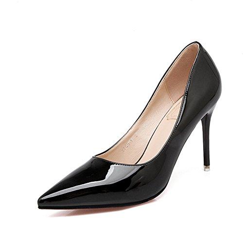 Do Dedo Pointy Fechados Anti derrapante Sapatos Modernas Casamento Senhoras Estilete Bombas Pé Respirável Preto nxaSIYYqW