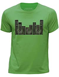STUFF4 Boy's Round Neck T-Shirt/equalizer/Speaker Monitor/CS