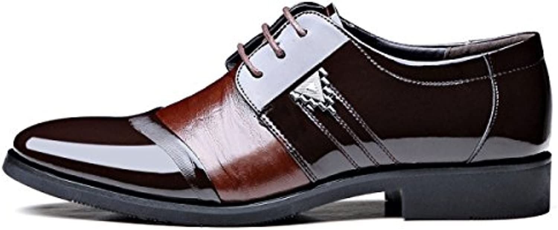 LEDLFIE Herrenschuhe Tipps Schnürsenkel Business Leder Schuhe Nähen Mischfarben Single Schuhe