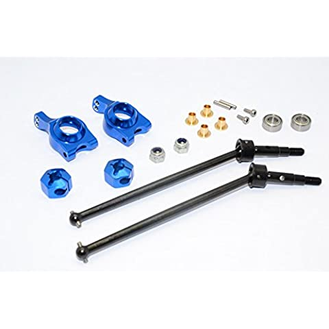 Team Losi Mini 8ight-T Truggy Upgrade Parts Steel #45 Front/Rear CVD Drive Shaft with Rear Knuckle & 12x8mm Hex & 5x10 Bearings - 1 Set