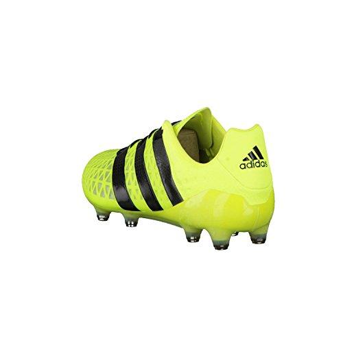 adidas Herren Ace 16.1 Fg/Ag Fußballschuhe, Blau, UK Gelb (Solar Yellow/Core Black/Silver Metallic)