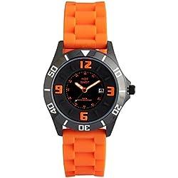Club A76139S5A Boys Black Dial Black Leater Strap Watch