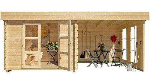 Gartenhaus Lillevilla 485 EcoLounge mit Anbau
