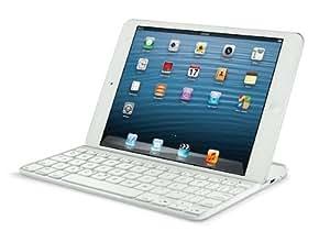 Logitech Ultrathin Magnetic Clip-On Keyboard Cover für iPad Mini (kabellose Bluetooth-Tastatur und Halterung, Schweiz/Deutsch Tastaturlayout QWERTZ) weiß