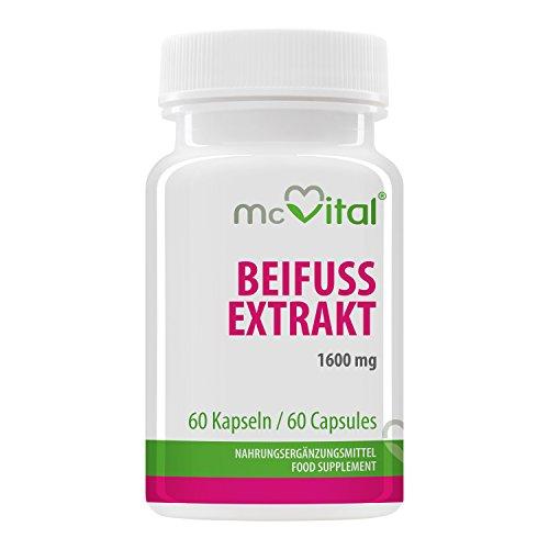 Beifuss Extrakt - 1600 mg - Artemisia Vulgaris - Gesundes Blutbild - Entspannt Muskeln und Gelenke - 60 Kapseln -