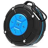 Lautsprecher Wasserdicht Bluetooth Backture Dusche Lautsprecher IPX7 Portable Mini Wireless Outdoor Lautsprecher mit Saugnäpfen, Mikrofon, Freisprecheinrichtung (Blue)