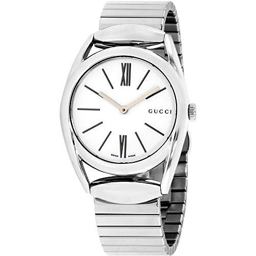 Gucci Damen-Armbanduhr 34MM Armband Edelstahl + GEHÄUSE Quarz Analog YA140405