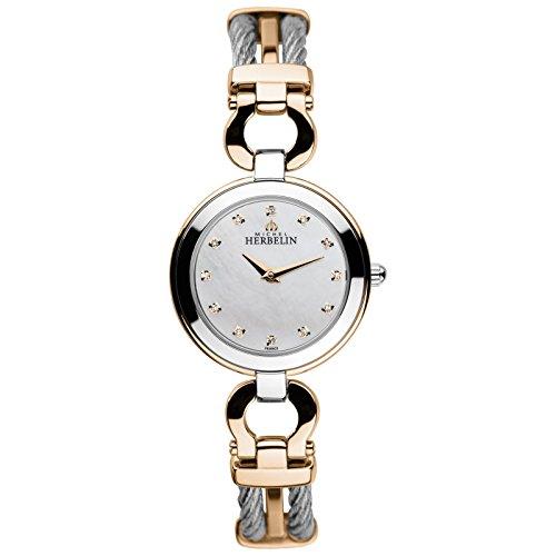 Michel Herbelin Cable Mujer Reloj De Plata De roségoldfarben/Nácar 17425/BTR59