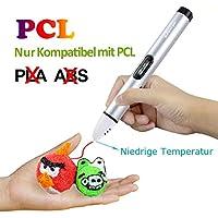 3D Stift Set mit OLED Display, niedrige Temperatur 3D Pen, sicher für Kinder und Erwachsene zu basteln, malen und 3D drücken (nur kompatibel mit PCL Filament, Nicht kompatibel mit PLA und ABS)