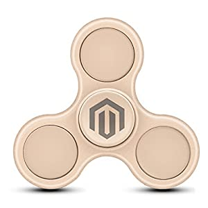 SPIN ME UP Version PRO by Bellemain / Hand Spinner / Fidget Spinner / Tri-Spinner / Fidget Jouet pour Adulte et Enfant (M-GOLD)