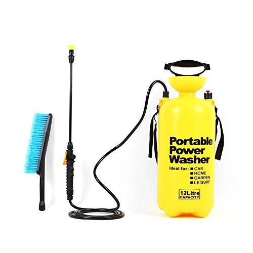 Femor Pompa Irroratrice per Lavaggio Auto Spruzzatore a Pressione 12L Nebulizzatore a Mano Per Giardino Vetro Pavimento 12 Litri