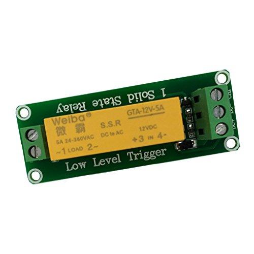 Fenteer 1 Kanal 5a 5V/12V/24V Relais-Schnittstellenkarte Solid-State-Relaismodul Platine - - 12-volt-systemsteuerung