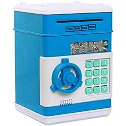 Hucha Electrónica Digital con contraseña Azul