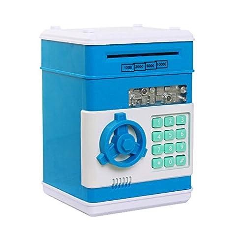 Money Banks, Netspower Security Piggy bank Digital Electronic Money Bank for Kids, Mini ATM Coin (Bottiglia Bank)