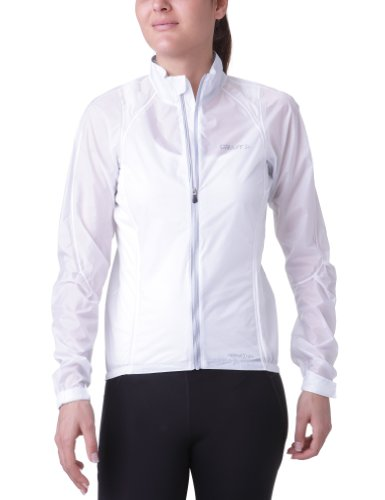 Craft Damen Jacke Performance Bike Rain Jacket, White, L, 1900673-2900