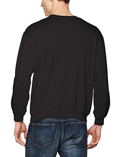James & Nicholson Herren Sweatshirt Sweatshirt Round Sweat Heavy Schwarz (Black)