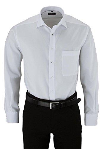 eterna Langarm Hemd Comfort Fit Pinpoint Unifarben white