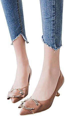 GAIHU Zapatos Camel 5.5cm, Primavera superficial, señaló C Hebilla con tacón zapatos de tacón alto, trabajo profesional