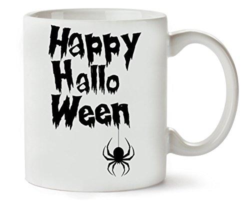 Happy Halloween Black Spider Klassische Teetasse Kaffeetasse