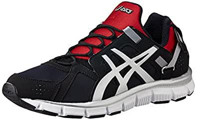 ASICS Men's Gel-Synthesis Black, Lightning and Red Mesh Multisport Training Shoes - 9 UK