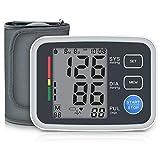 Blutdruckmessgerät Digitale Oberarm Blutdruckmessgerät mit Arrhythmie-Erkennung 2 * 90 Speicher Messungen für eine präzise Blutdruckmessung (Schwarz)