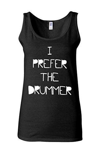 Band Womens Tank Top (I Prefer The Drummer Music Band Novelty Black Women Damen Unterhemd Tank Top Vest Verschiedene Farben-S)
