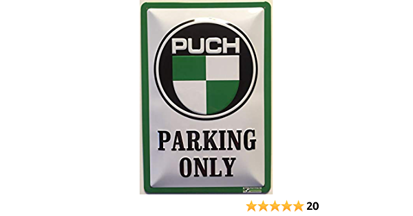 Deko7 Blechschild 30 X 20 Cm Steyr Puch Parking Only Küche Haushalt