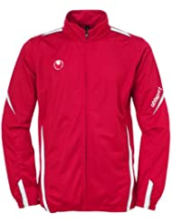 uhlsport Team Classic - Chaqueta para hombre, color rojo/blanco, talla XL