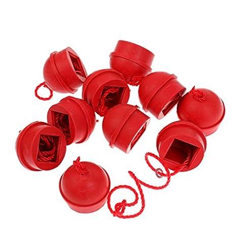 Gazechimp 10 Stück Gummi Billard Kreidehalter (mit Kordel für Billardtisch)